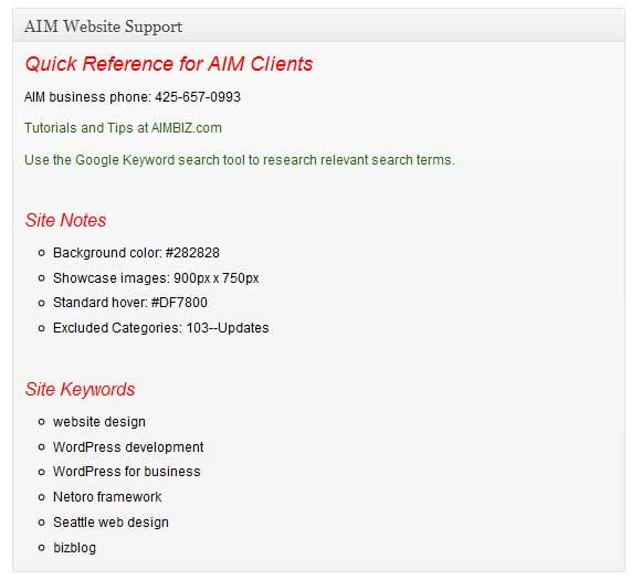 AIMBIZ.com Updates showcases a new feature for Netoro framework