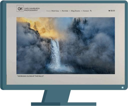 Gary Hamburgh Photography website by Seattle website developer AIM