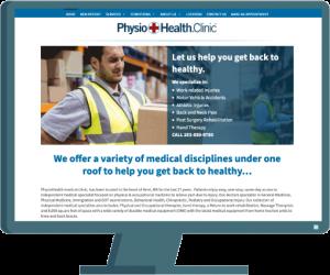 PhysioHealth web design by Seattle website developer AIM