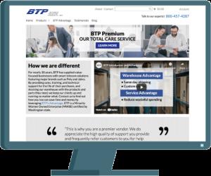 BTP web design by Seattle website developer AIM