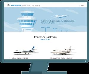 IAG Jets web design by Seattle website developer AIM