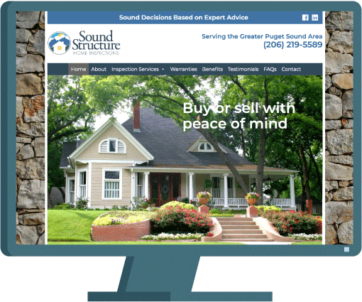 Sound Structure web design by Seattle website developer AIM