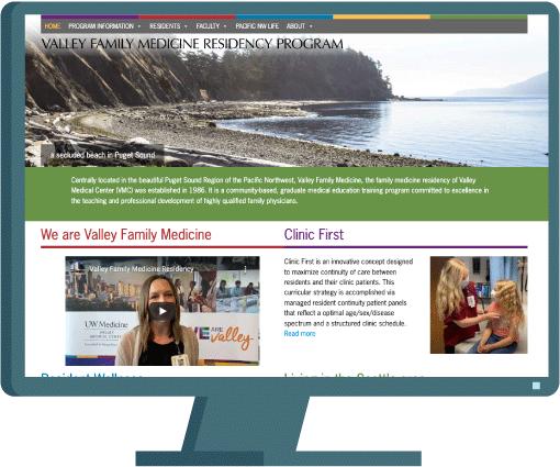 Valley Family Medicine web design by Seattle website developer AIM
