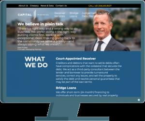Capital Financial web design by Seattle website developer AIM