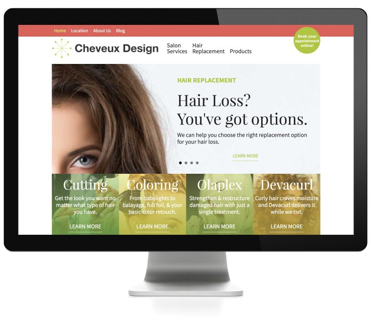 Cheveux Design web development by AIM