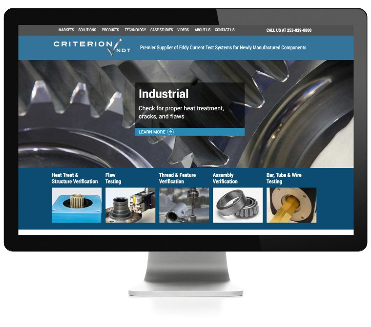Criterion NDT web design by AIM