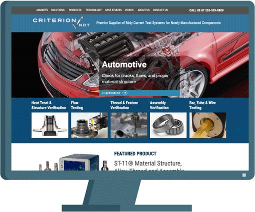 Criterion NDT web design by Seattle website developer AIM