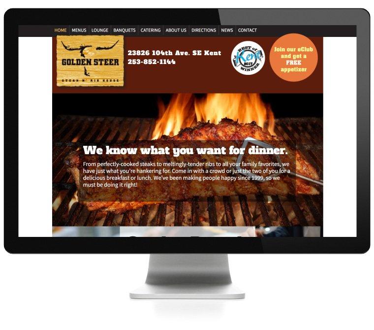Golden Steer Restaurant web development by AIM
