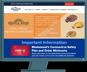 Medosweet website by Seattle website developer AIM