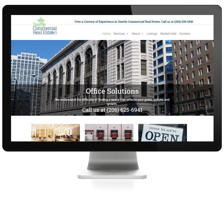 Seattle Commercial Real Estate website design by AIM