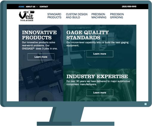 Veit Tool & Gage web design by Seattle website developer AIM