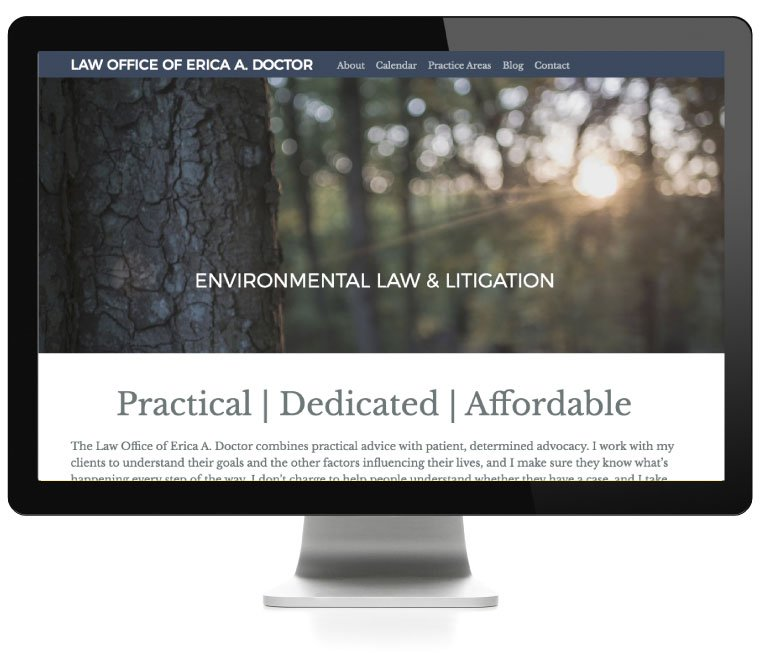 Law Offices of Erica Doctor website, developed by AIM