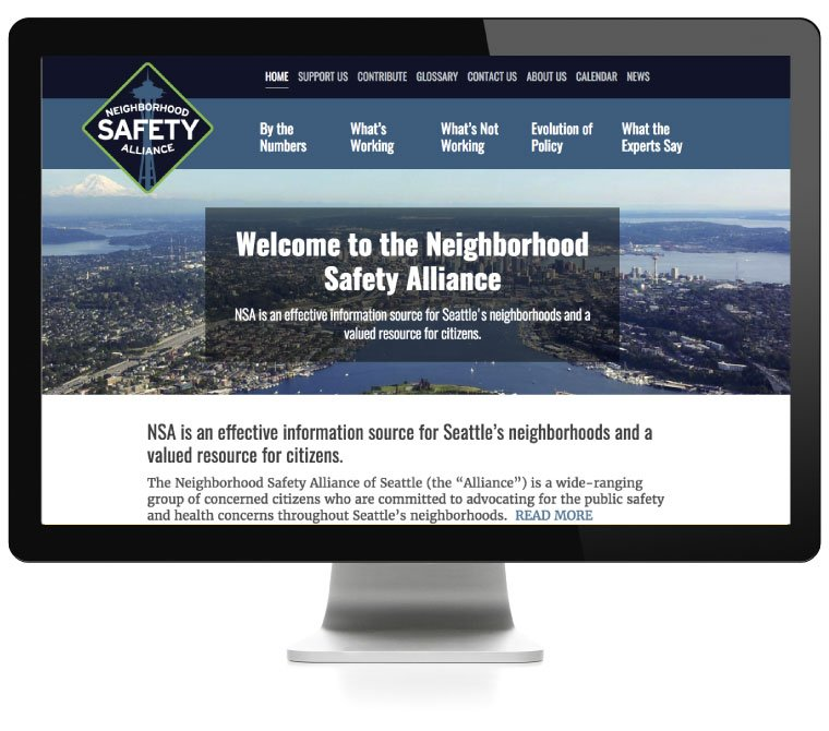 Neightborhood Safety Alliance website developed by AIM