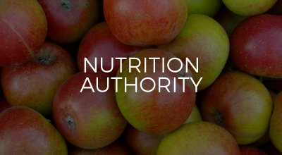 Nutrition Authority website design by AIM