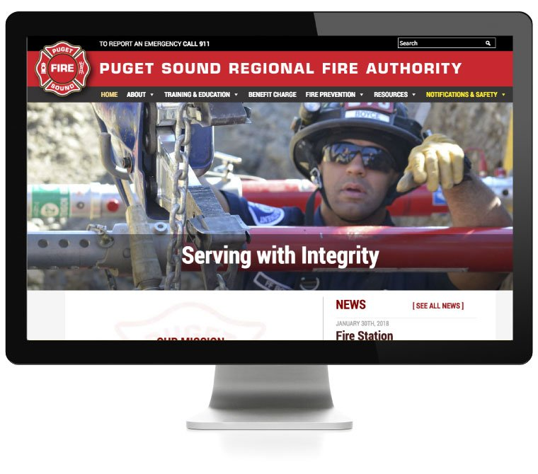Puget Sound Regional Fire Authority website development by AIM