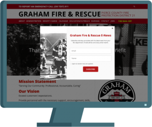 Graham Fire & Rescue web design by Seattle website developer AIM