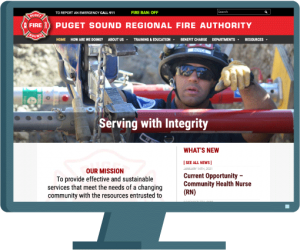 Puget Sound Fire Authority home page website development case study by AIM