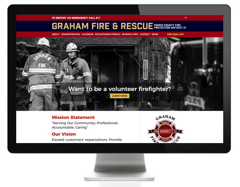 Graham Fire & Rescue website developed by AIM