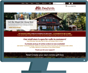 Boehms Candies e-commerce web design created by AIM