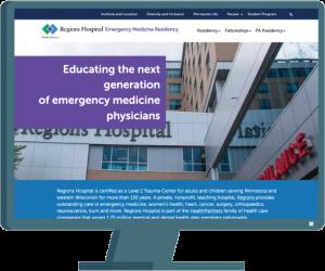 Regions Hospital website by Seattle website developer AIM