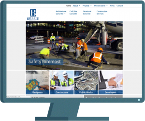 Belarde Company home page, website development case study by AIM